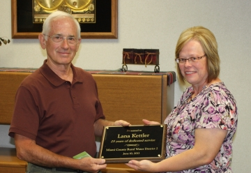 Lana Kettler, Awarded for 25 Years of Service